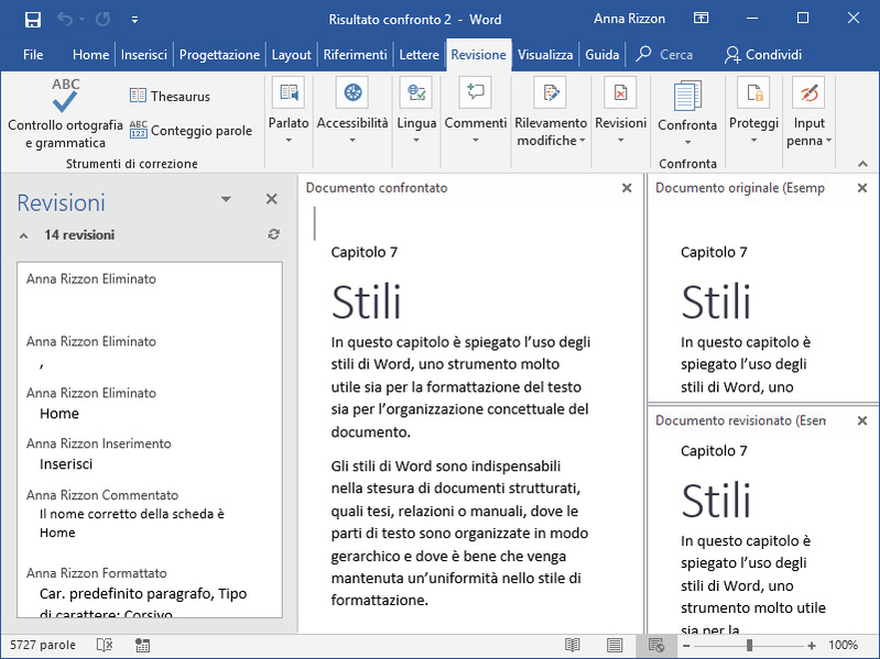Tutorial: come usare le Revisioni di Microsoft Word - Dedalo - Servizi editoriali